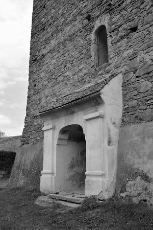 Fortified medieval saxon church in the village Barcut, Bekokten, Brekolten,Transylvania,Romania Reklamní fotografie