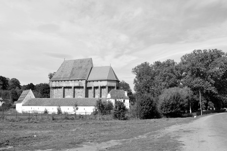 Fortified medieval saxon church in the village Bradeni, Henndorf, Hegendorf,  Transylvania, Romania. The settlement was founded by the Saxon colonists in the middle of the 12th century