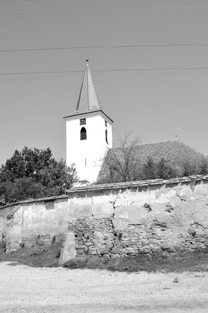 Fortified medieval saxon church in Bruiu - Braller, a commune in Sibiu County, Transylvania, Romania. The settlement was founded by the Saxon colonists in the middle of the 12th century
