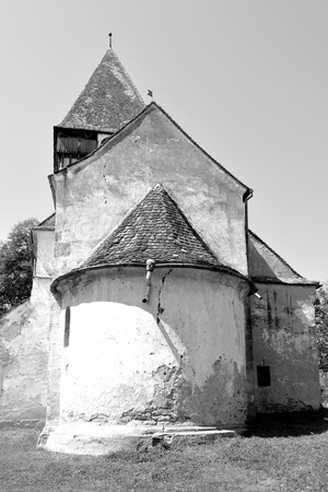 Fortified medieval saxon evangelic church in the village Toarcla, Tartlau, Transylvania, Romania