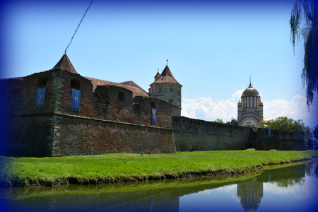 Old medieval fortress in the city Fagaras, a town with a rich medieval history, situated in the centre of Transylvania, Romania