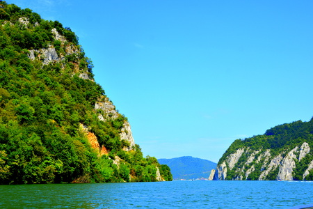 Defileul Dunării, also known as Clisura Dunării, a geographical region in Romania. It is located in southern Banat, along the northern bank of the river Danube.