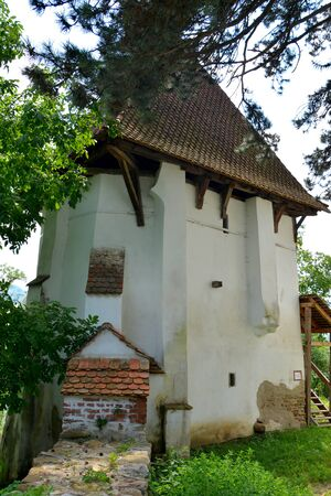 Fortified medieval saxon evangelic church in the village  Apold