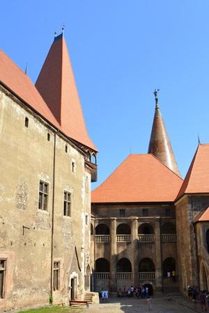 Corvin's Castle or  Hunyadi Castle in Hunedoara, the residence of the romanian king of Transylvania, Iancu of Hunedoara