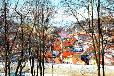 Typical urban landscape of the city Brasov, a town situated in Transylvania, Romania, in the center of the country. 300.000 inhabitants.