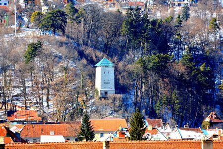 Typical urban landscape of the city Brasov, a town situated in Transylvania, Romania, in the center of the country. 300.000 inhabitants. 스톡 콘텐츠