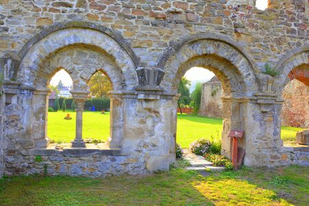 Ruins of medieval cistercian abbey in Transylvania.