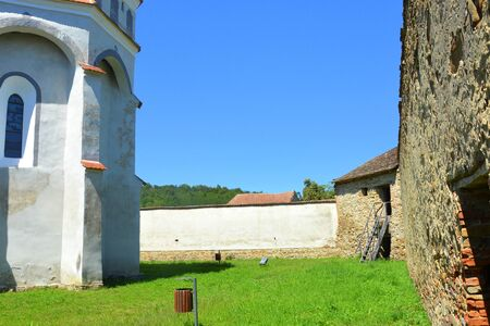 Fortified medieval saxon evangelic church  in  the village CloaÈ™terf (Klosderf, Klosdorf, Nickelsdorf), Transylvania, Romania. The settlement was founded by the Saxon colonists in the middle of the 12th century