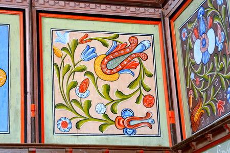 Inside the church of the fortified medieval saxon evangelic church in the village Mesendorf  (Meschenderf, Meschendorf, Mesche), Transylvania, Romania. 報道画像