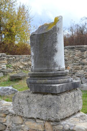 Ruins of the old dacian fortress in Sarmisegetusa, Romania, two thousand  years ago