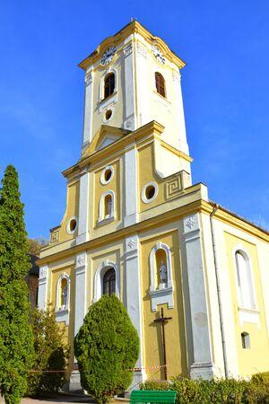 Typical landscape in the town Oravita, banat, Transylvania