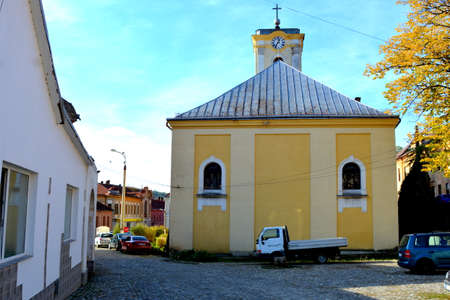 Oravita. Typical urban landscape in Transylvania. 新闻类图片
