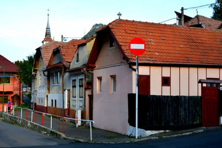 Schei cvartal and old houses. Typical urban landscape of the city Brasov, a town situated in Transylvania, Romania, in the center of the country. 免版税图像
