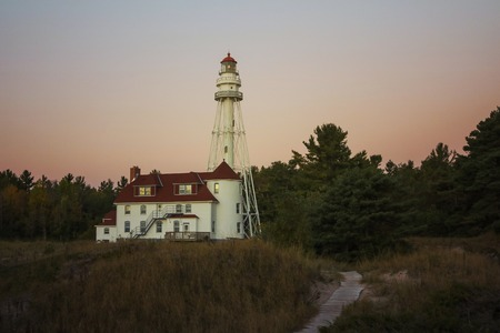 lake michigan lighthouse: faro del lago Michigan