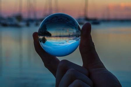 Crystal ball at dusk