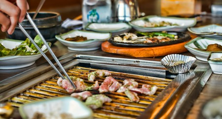 korean traditional: Korean traditional barbecue grill Stock Photo