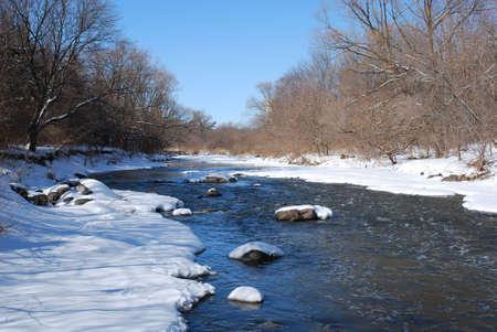 Snowy creek Stok Fotoğraf