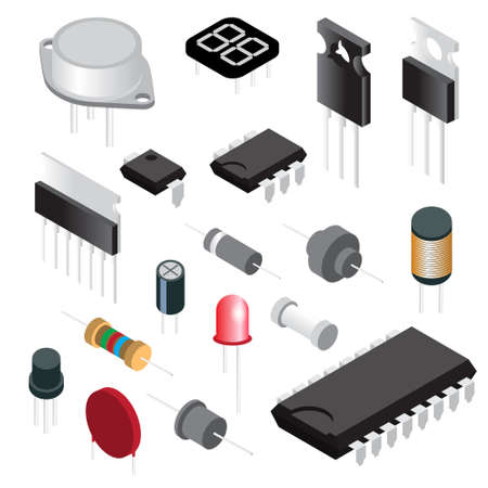 Electronic components image illustration