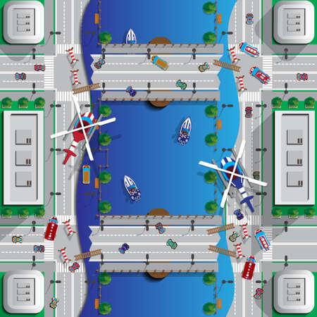 City center image design illustration Иллюстрация