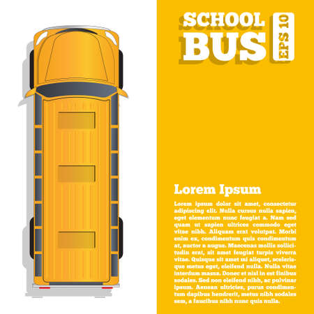 School bus. The template for the presentation. Vector illustration.  イラスト・ベクター素材