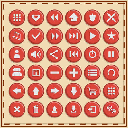Set of icons. Vector illustration.