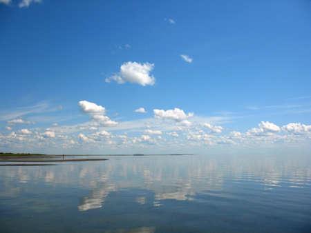 blue colour of sea and sky photo
