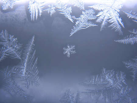 This is snow frosty pattern on winter window
