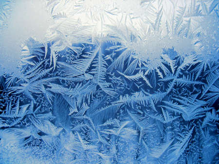 crystal: This is snow pattern on winter window