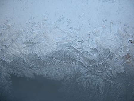 frosted glass: This is frosty pattern on glass winter window Stock Photo