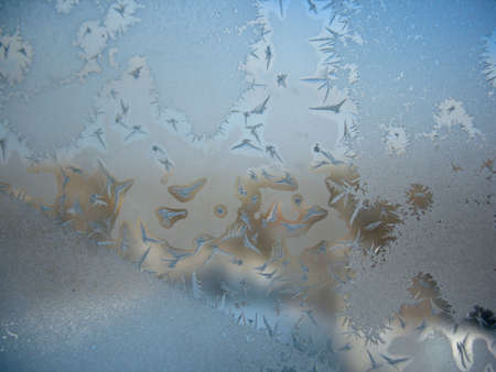 This is frosty pattern on glass winter window Stock Photo - 13214757