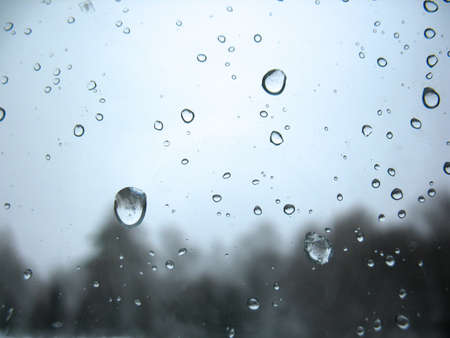 There are window glass and rain drops Reklamní fotografie