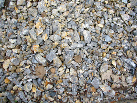 This is heap of grey acute stones Stock Photo - 15281303