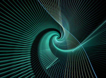 abstract swirl: Abstract computer generated image on black background Stock Photo