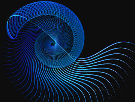 Abstract fractal computer generated composition with spiral shapes Stock Photo