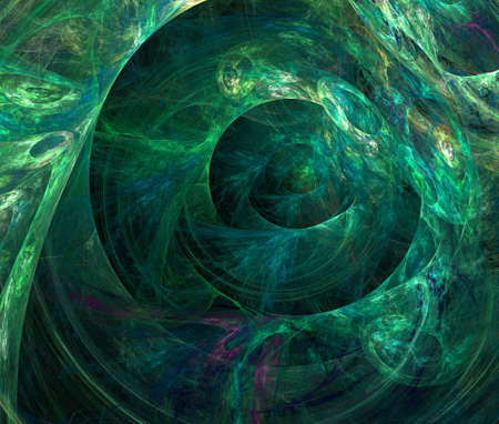 Computer generated green background of abstract fractal shapes