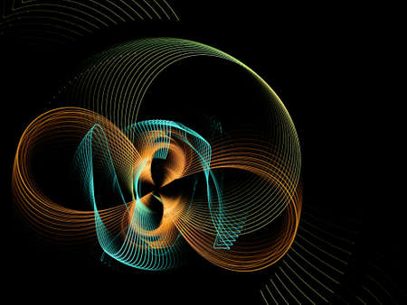Abstract multicolored spiral fractal pattern. Computer generated graphics. Imagens