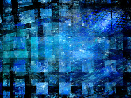 Computer generated background of abstract fractal shapes Stock Photo