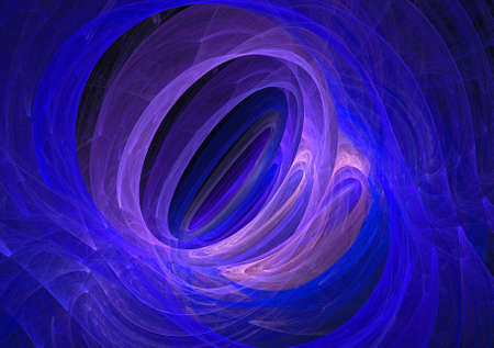 Abstract fantasy ornament pattern on black bsckground.  Creative fractal computer render deaign for you design. Stock Photo
