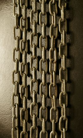 chainlinks: strong chains on the dark blue light. vertical