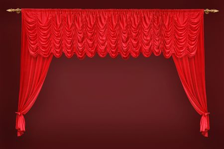 aristocratic: red curtain in front of the theatre