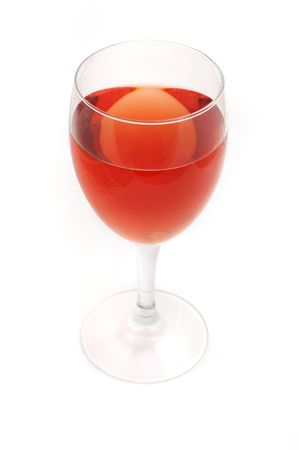 brewage: red wine in style glass Stock Photo