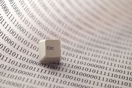 esc: escape key on technology background