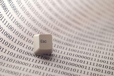 escape key: escape key on technology background