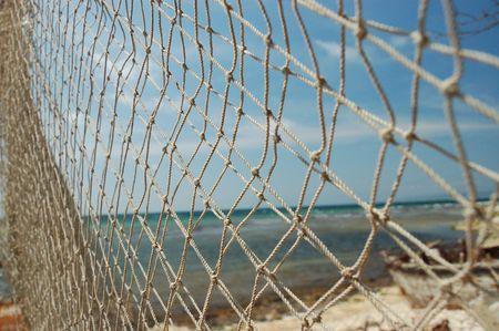 medias de red: color Nets en la playa