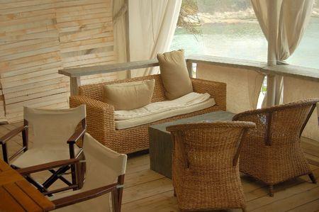 warm house: home interior - veranda  for relax