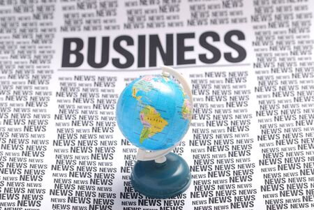 global business news on top. press information  photo