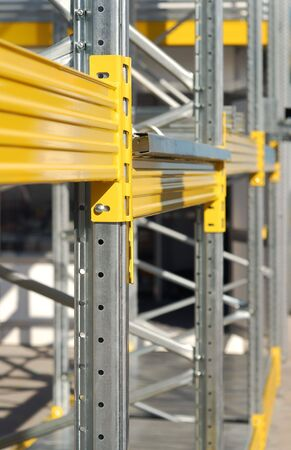 industrial detail of rack part. technology background. photo