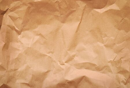 rumple: old brown paper background. rumple surface of material