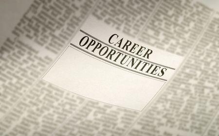 periódico carrera de oportunidades, de empleo concepto. puestos de trabajo