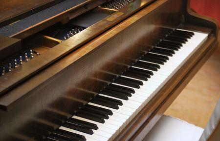 chorale: Closeup of Grand Piano Keys